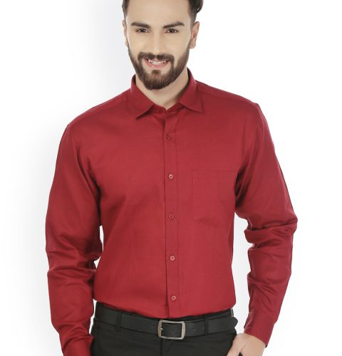 Comfort Fit Solid Formal Shirt 2