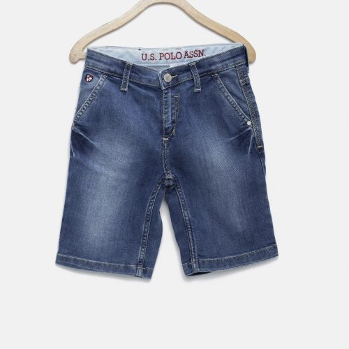 Washed-Regular-Fit-Denim-Shorts
